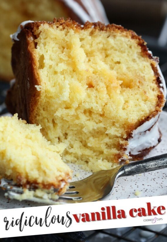 Ridiculous Vanilla Cake Pinterest Image