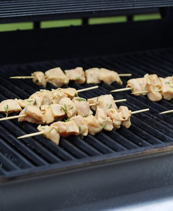 Rosemary Chicken Skewers are CRAZY flavorful, so easy and the perfect weeknight meal!