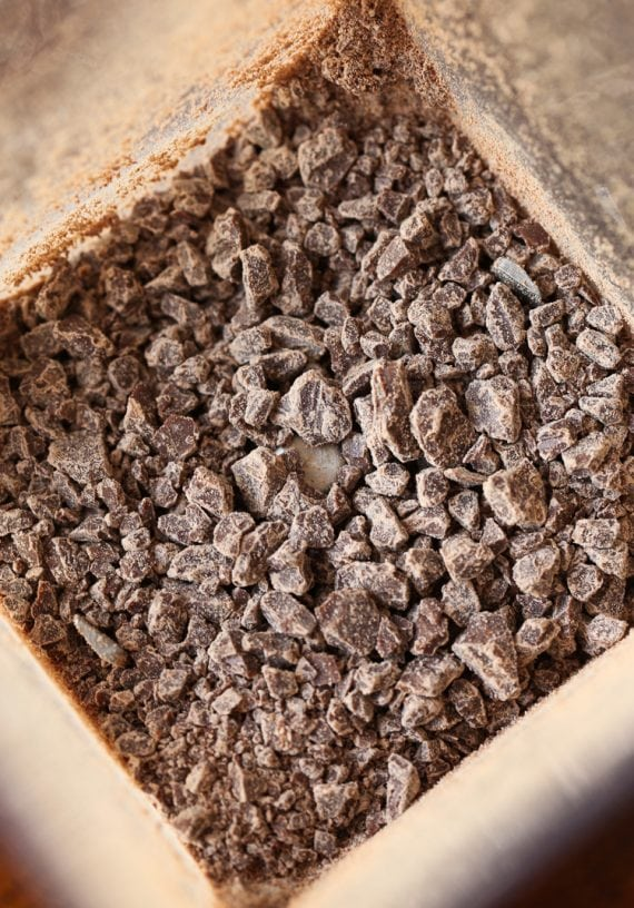 Ground up milk chocolate to add to cookies!