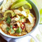 Lime Chipotle Chicken Soup... Low fat, spicy, citrusy and delicious!