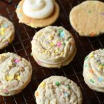 Sugar Cookie Double Doozie Cookie Sandwiches... chewy, sweet and loaded with sprinkles!