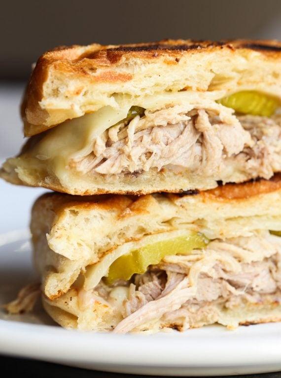 Easy Cuban Pork Sandwich made with Crock Pot Cuban Pork!