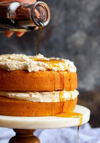 Image of a Perfect Pumpkin Cake with Maple Frosting