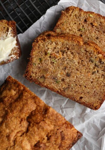 Autumn Bread is fall baking at its best. An ultra moist quick bread/cake that's a combination of zucchini bread, banana bread, and carrot cake! I bake this all year long!