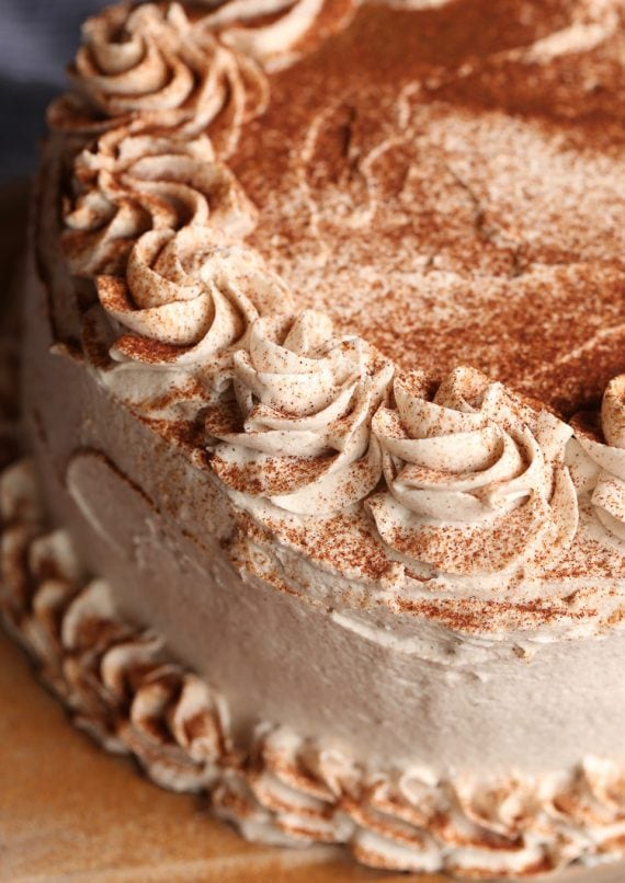 Cinnamon Roll Layer Cake with Cinnamon Buttercream Frosting
