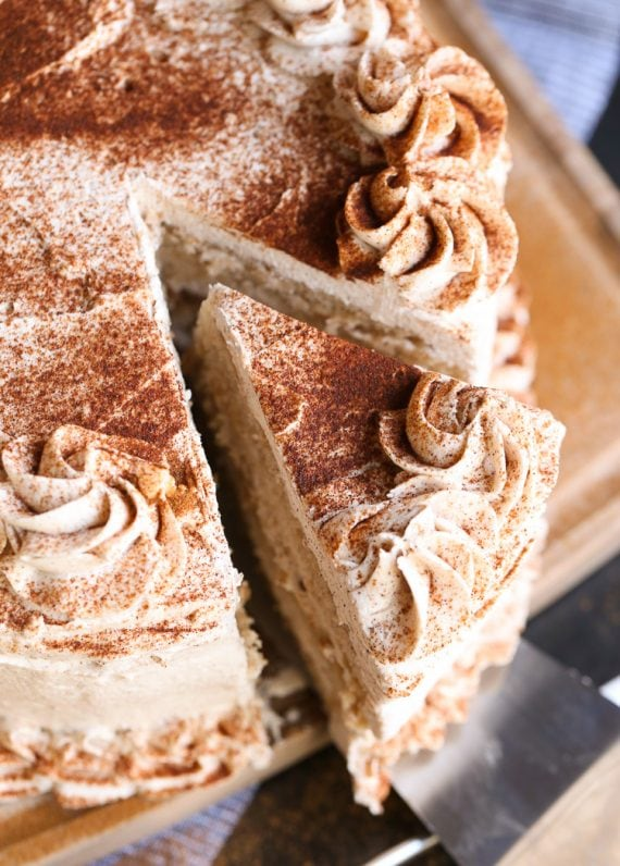 Cinnamon Roll Layer Cake is a buttery cinnamon cake recipe