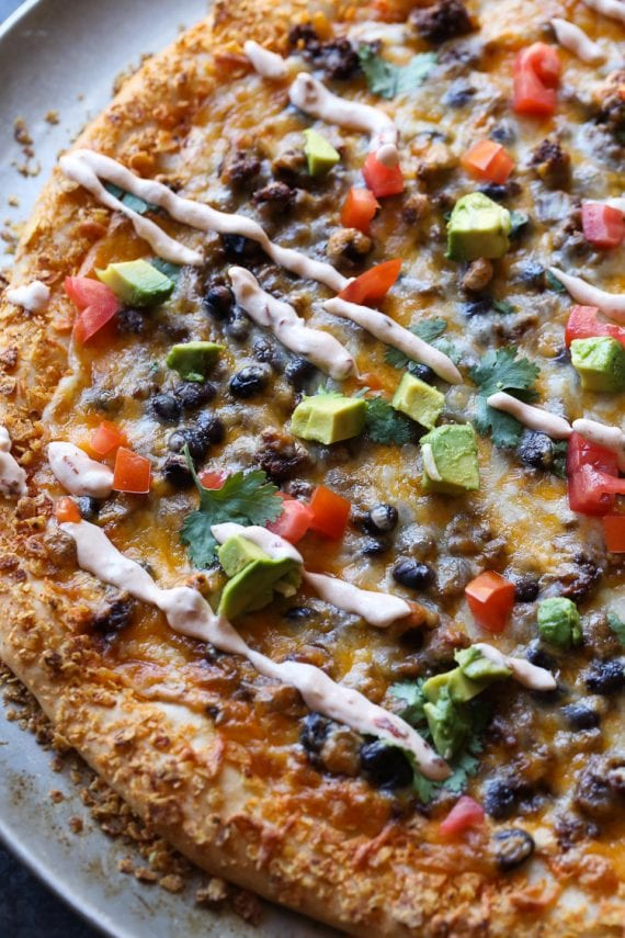 Taco Pizza is an easy pizza recipe