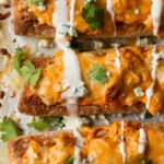 Image of Cheesy Buffalo Chicken Bread from the top