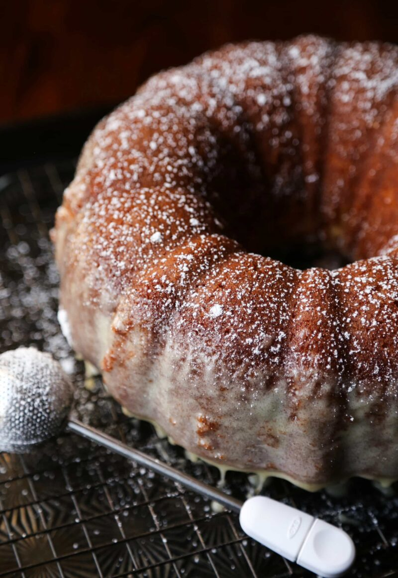 Eggnog Butter Cake...my super adaptable butter cake recipe, given a holiday vibe with eggnog!