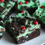Image of Grinch Brownies on a Plate