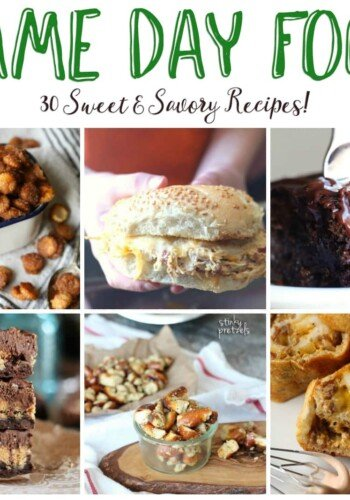 Appetizers, meals and sweet treat ideas for game day parties