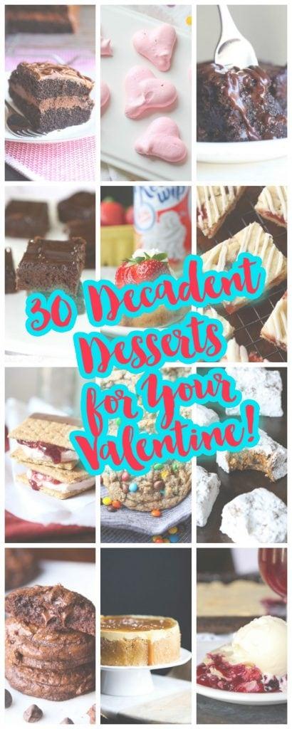 30 Decadent Desserts for your Valentine