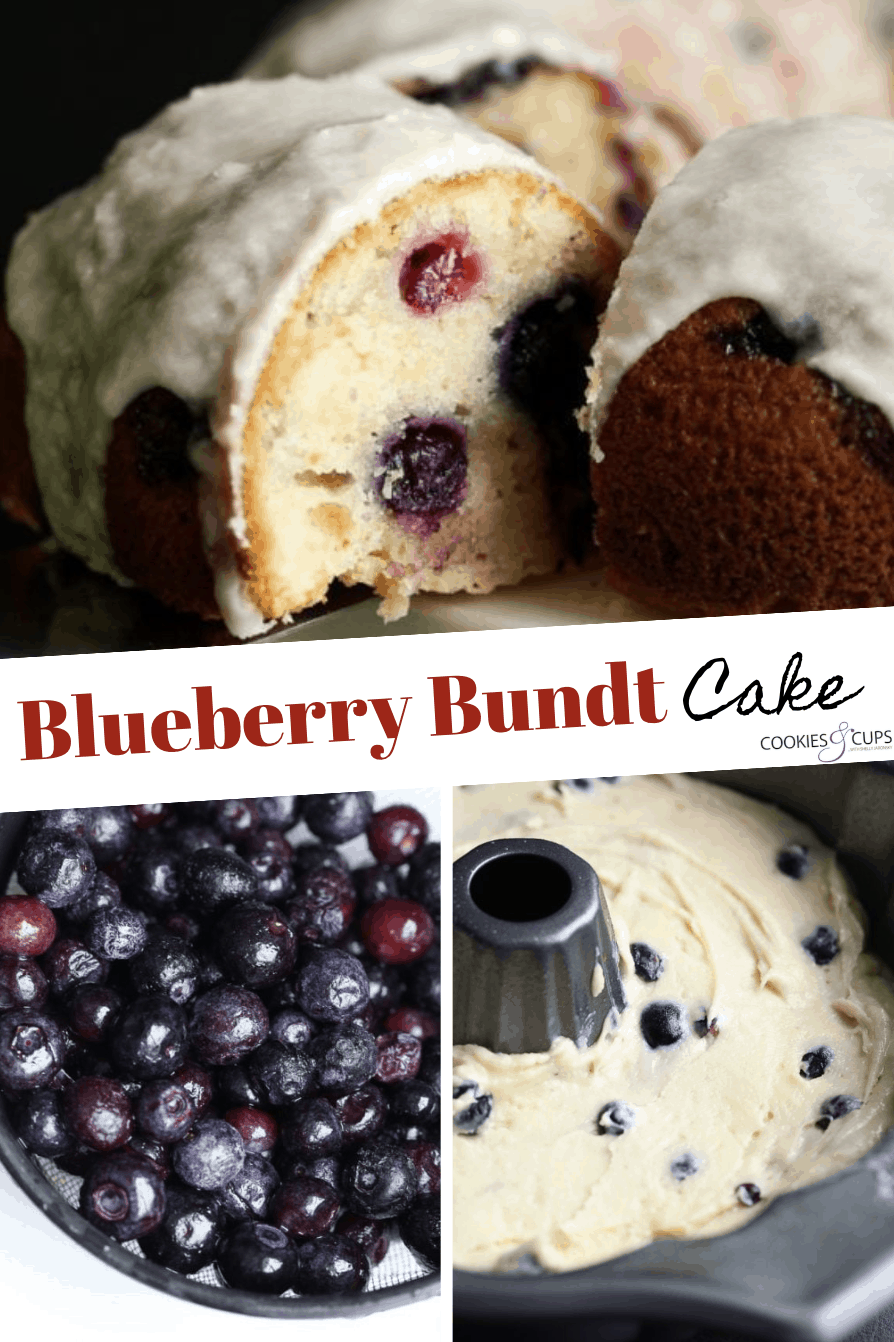 Pinterest image for blueberry bundt cake