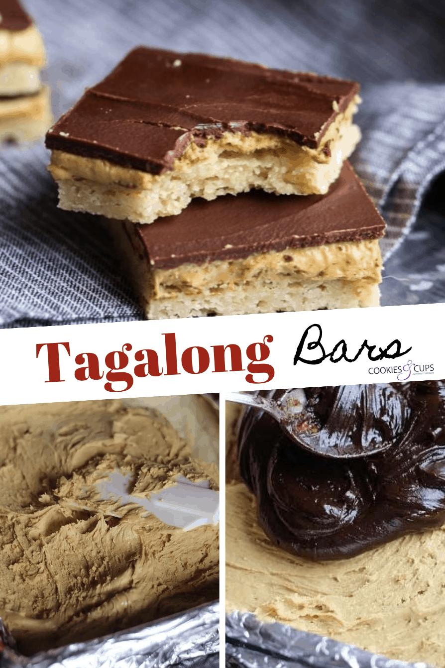 Pinterest Image for Tagalong Bars