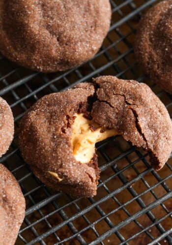 Peanut Butter Stuffed Cookies! These look innocent form the outside, but are filled with creamy, sweet peanut butter!