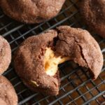 Image of a peanut butter stuffed chocolate cookies