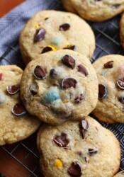 chocolate chip cookies with cadbury chocolate eggs