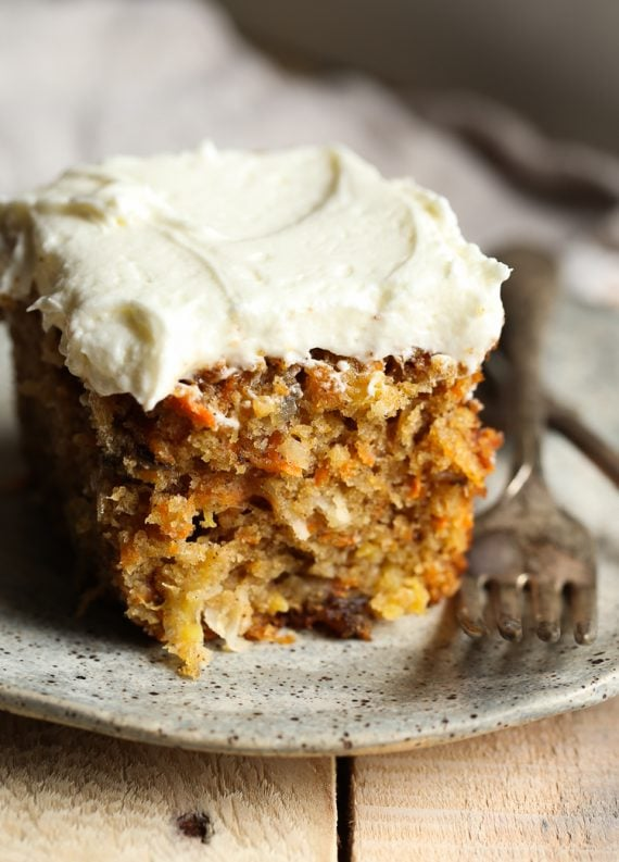 The Best Carrot Cake recipe is my Perfect Carrot Cake and it's topped with cream cheese frosting!