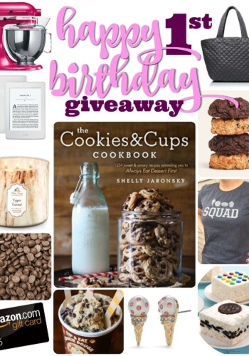 A Collage of Images of Different Desserts and Other Giveaway Prizes