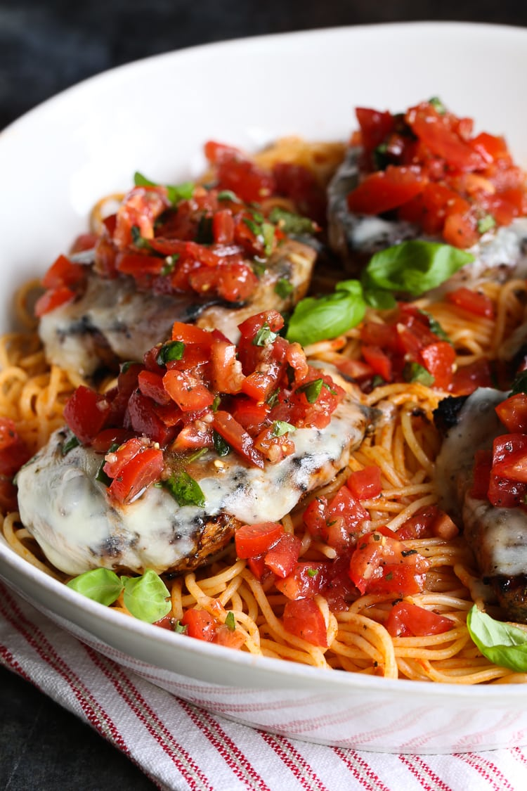 Easy Grilled Bruschetta Chicken