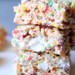 Image of Fruity Pebble Krispie Treats, Stacked