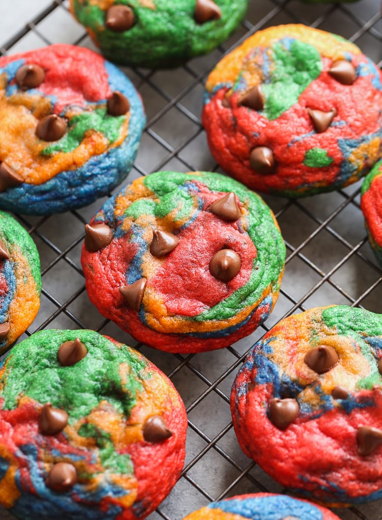 Rainbow Chocolate Chip Cookies An Easy Rainbow Cookie Recipe