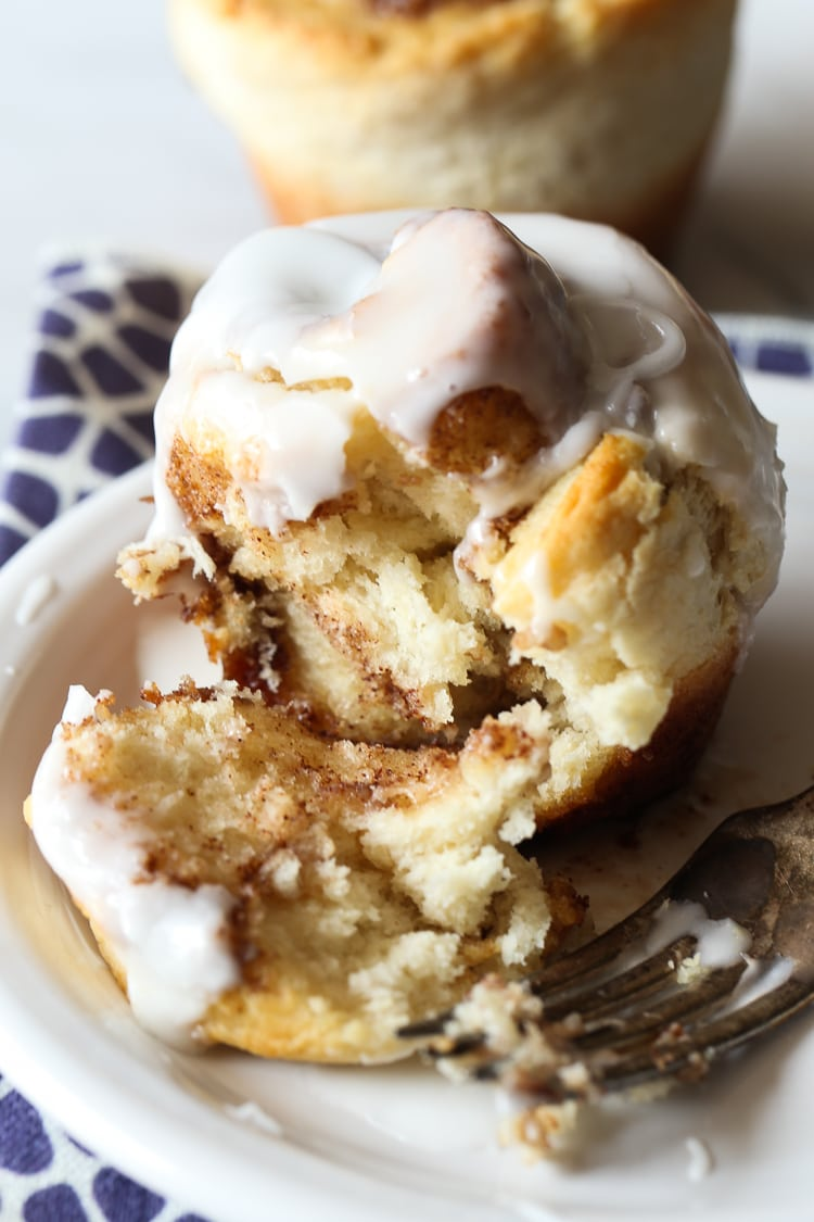 No Yeast Cinnamon Roll Muffins Easy Cinnamon Roll Recipe