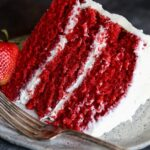 The BEST Red Velvet Cake recipe that slices up perfectly!