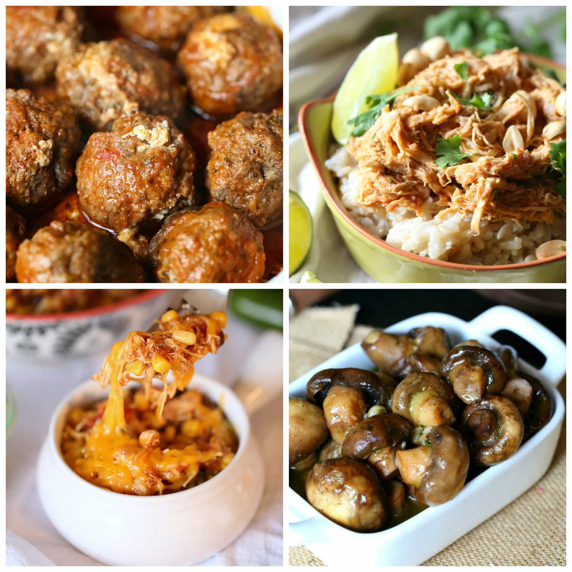 Easy Slow Cooker Meatballs and more slow cooker recipes