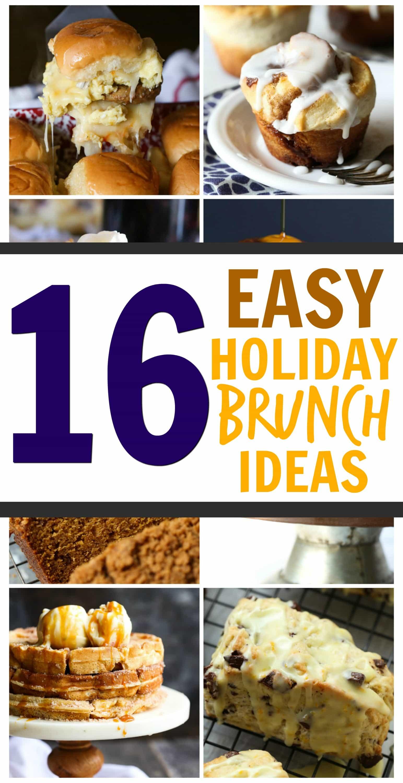16 Easy Holiday Brunch Ideas