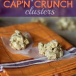 Two Peanut Butter Cap'n Crunch Clusters on a Plate