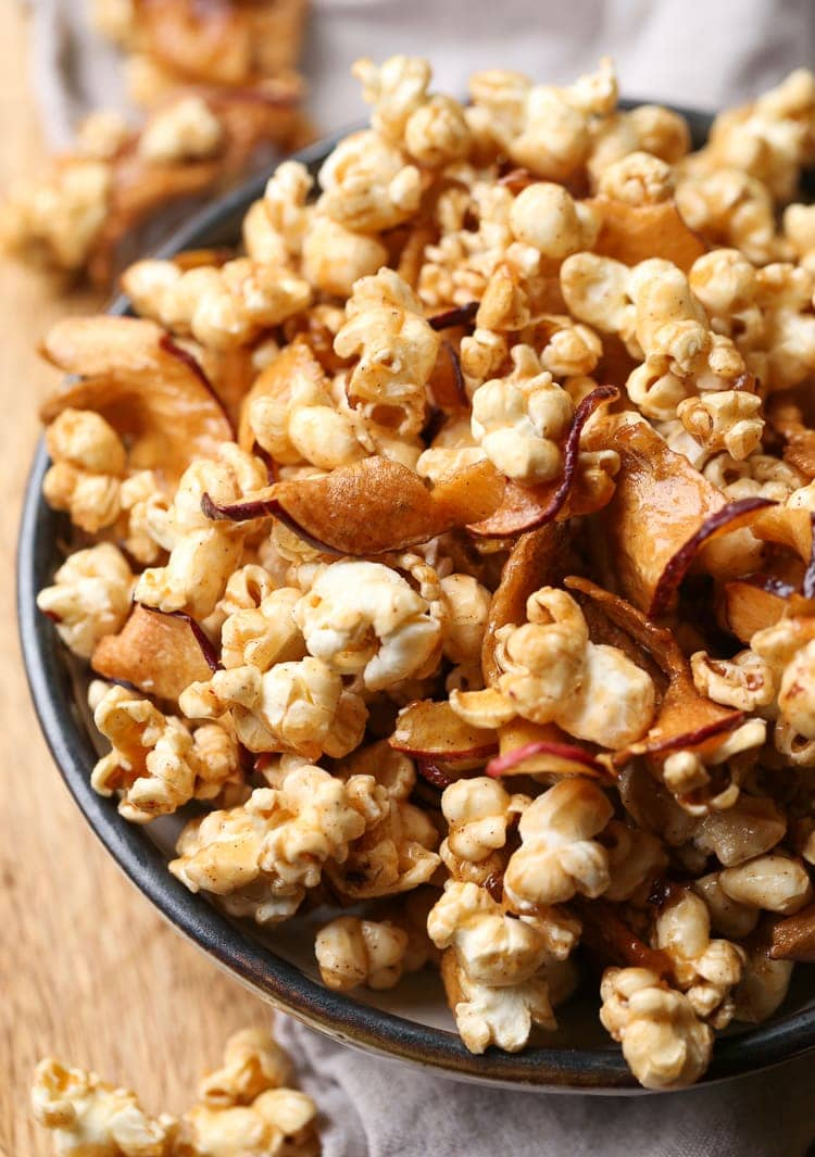 Easy Caramel Apple Popcorn Recipe Salty Sweet Snack Perfection