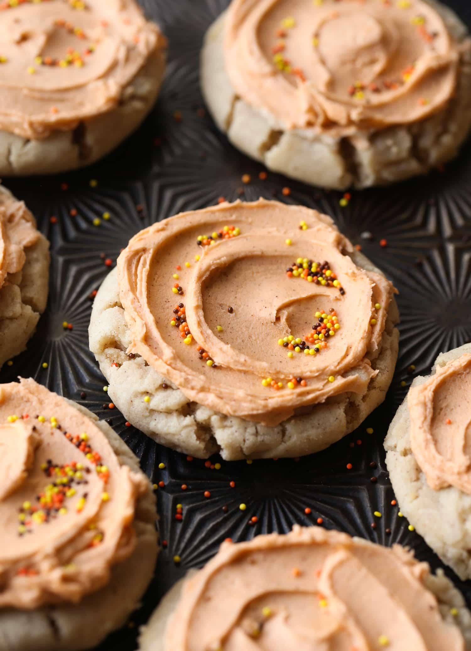 Image of Pumpkin Spice Pressed Sugar Cookies