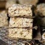 Three Stacked Toasted Marshmallow Krispie Treats