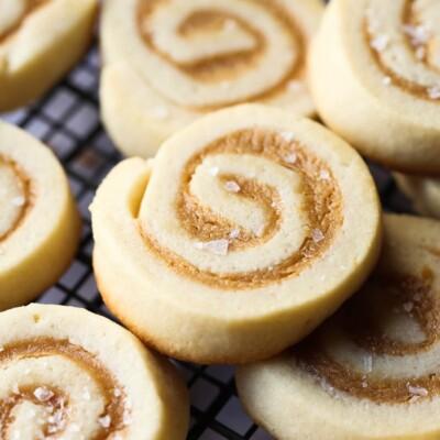 Image of Salted Caramel Pinwheel Cookies