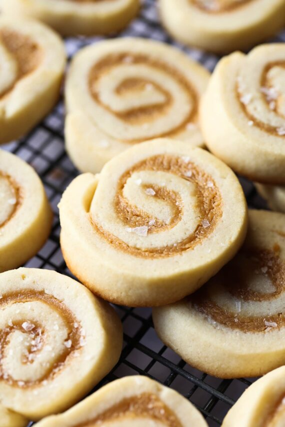Image of Salted Caramel Pinwheel Cookies