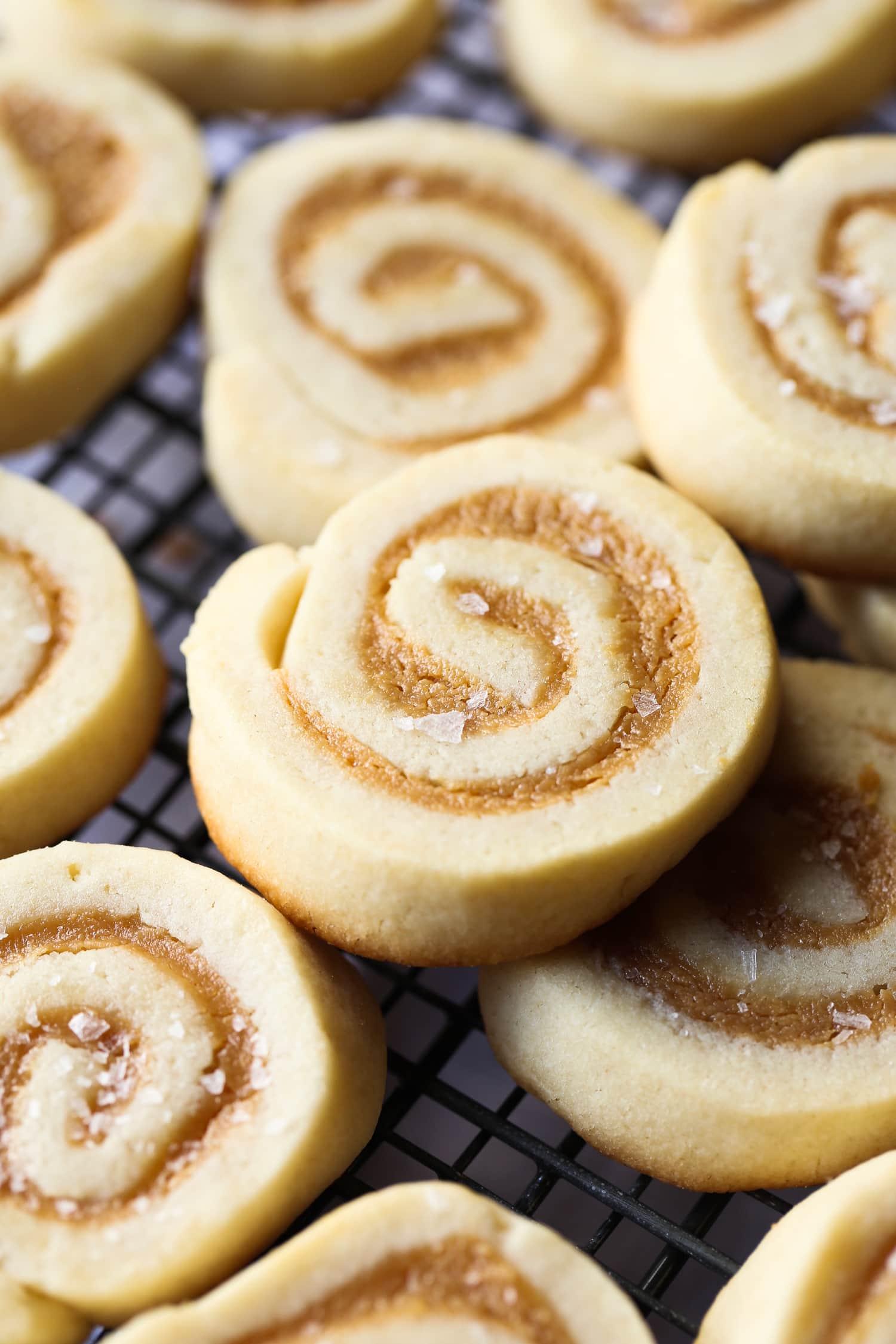 Salted Caramel Pinwheel Cookies Holiday Baking Christmas Cookies
