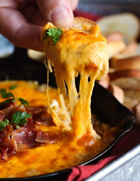Cheesy Bacon Caramelized Onion Dip