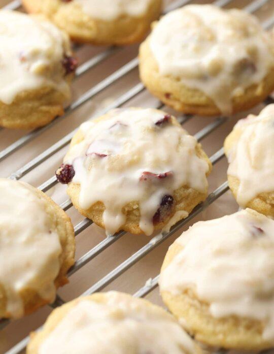 Cranberry Orange Meltaway Cookies
