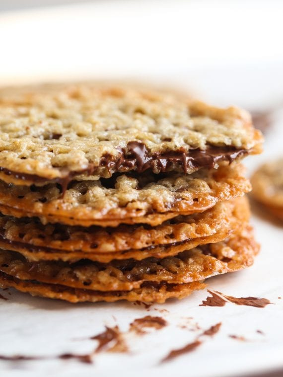 Milk Chocolate Lace Sandwich Cookies