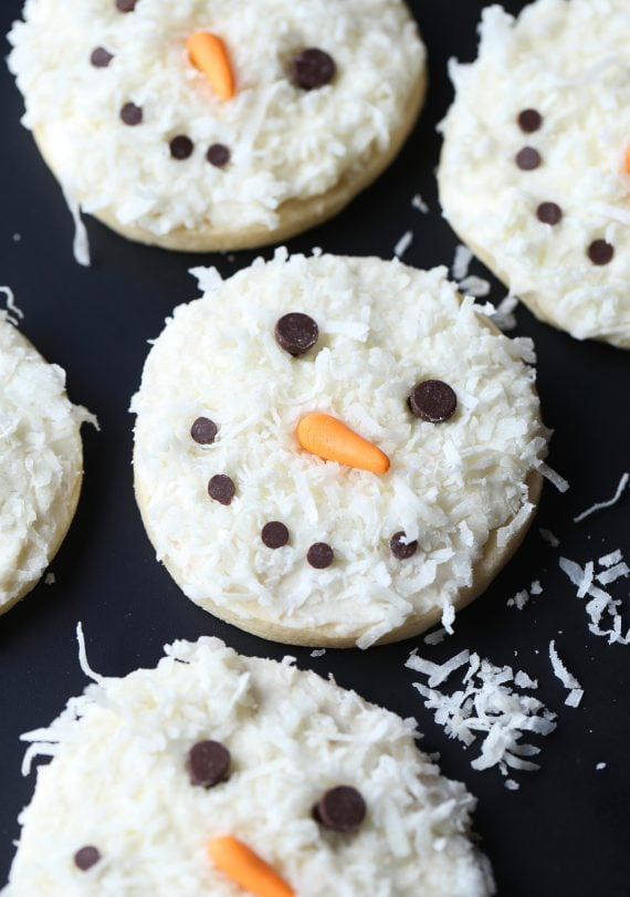 Coconut Snowman Cookies Holiday Baking Christmas Cookies