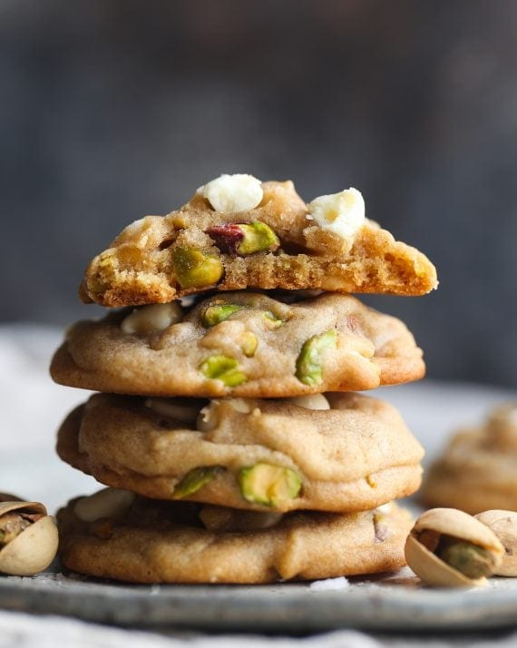 Salted Honey Pistachio Cookies are an easy pistachio cookie recipe!