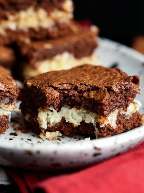 Coconut Stuffed Brownies