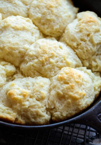 Pan of skillet biscuits