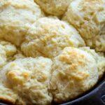 Pan of skillet biscuits