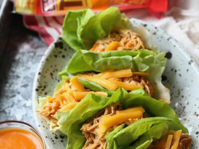 Image of Slow Cooker Buffalo Chicken Lettuce Wraps