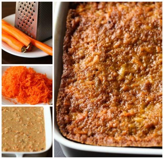 Toutes les étapes pour préparer un gâteau aux carottes