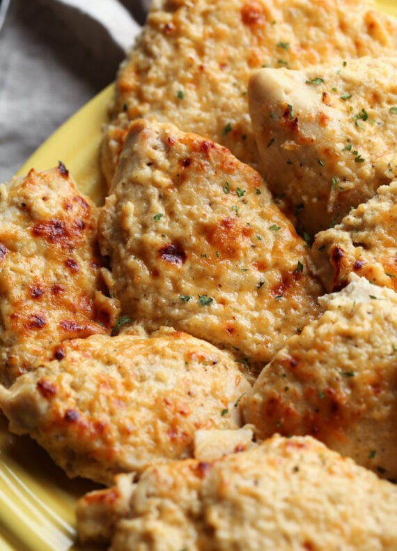 Tender baked chicken breasts