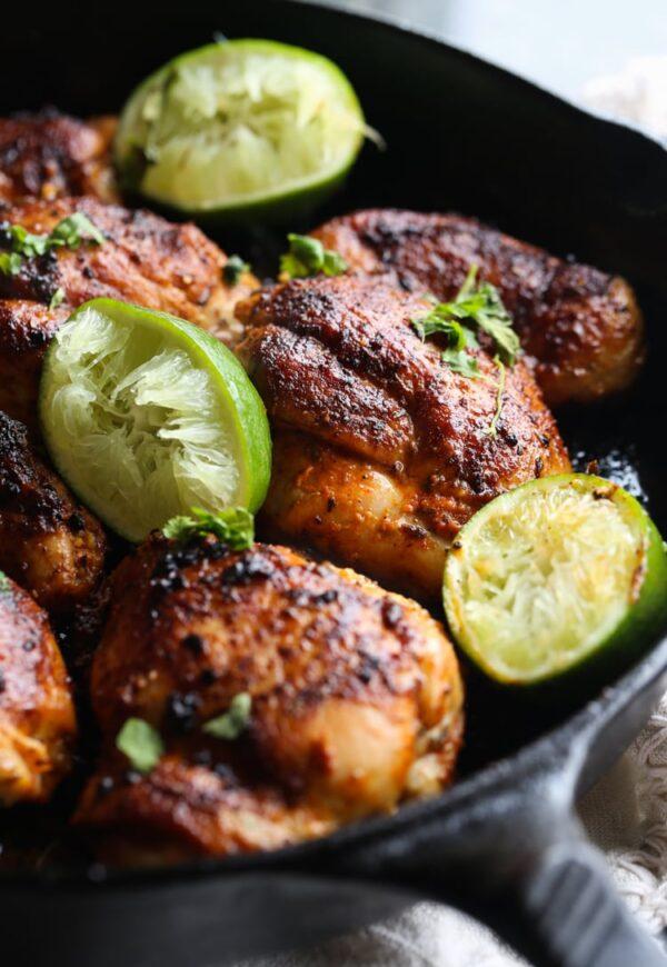 Spicy Skillet Lime Chicken