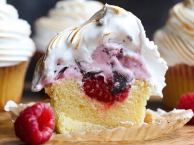 Baked Alaska Cupcakes